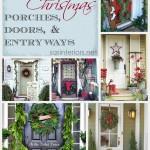 Inspiration for Christmas Porches, Doors, and Entryways via @Jenna_Burger, sasinteriors.net