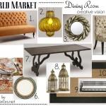@WorldMarket Dining Room Pinspiration - Creative Vision Board by @Jenna_Burger via sasinteriors.net