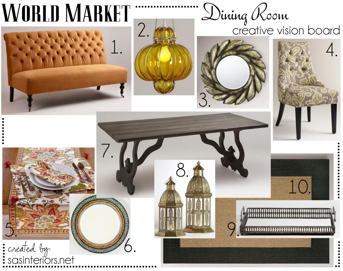 Dining Room Pinspiration With World Market Jenna Burger