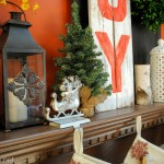 JOYful Christmas Mantel by @Jenna_Burger via sasinteriors.net