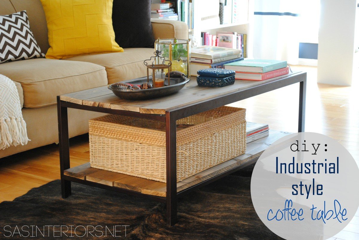 Diy Modern To Industrial Style Coffee Table Jenna Burger Design Llc - How To Remove Metal From Glass Table