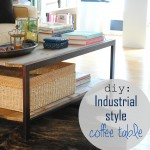 DIY: Modern to Industrial-Style Coffee Table.