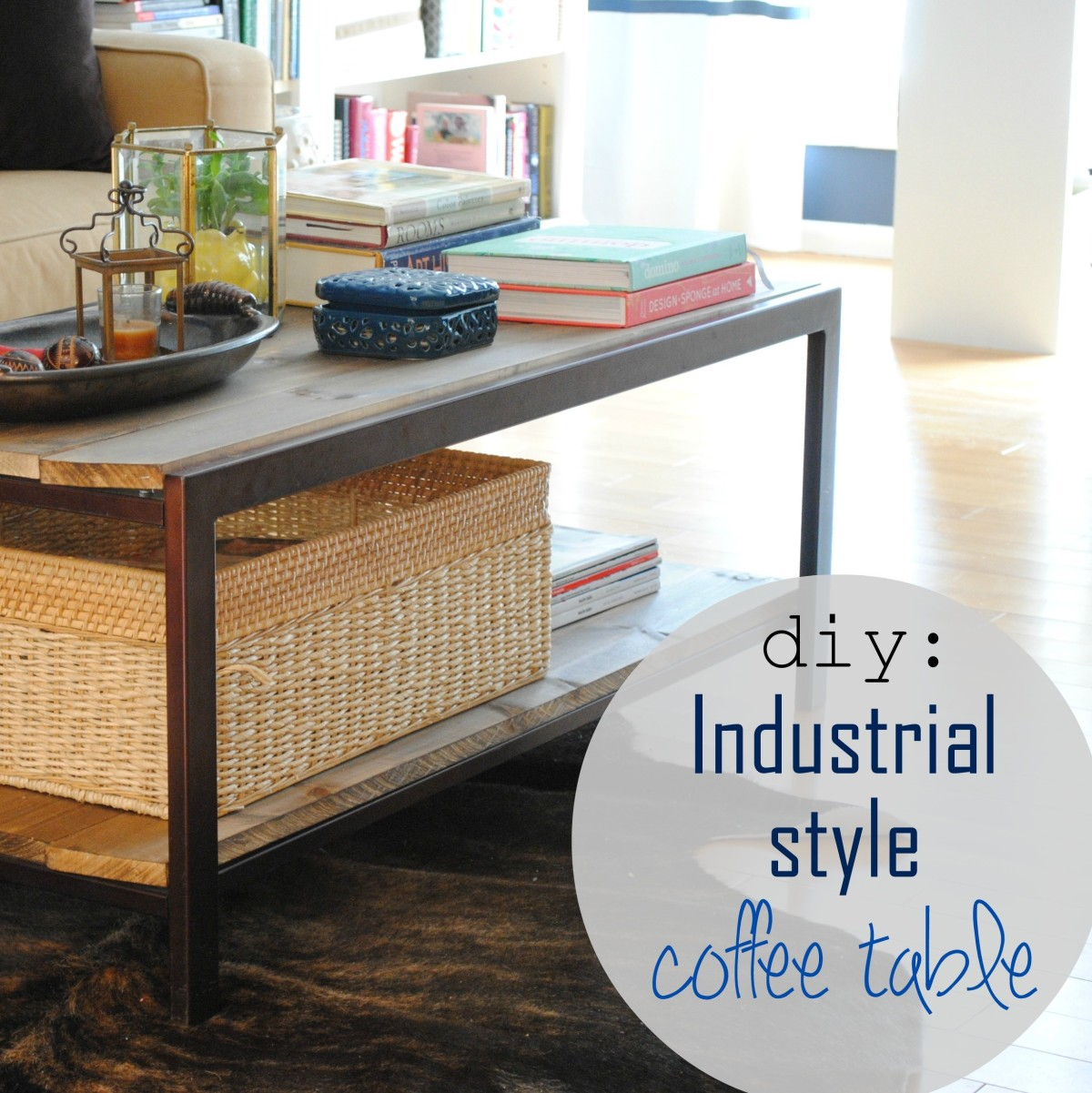 Build Industrial Coffee Table: DIY: Modern To Industrial-Style Coffee Table