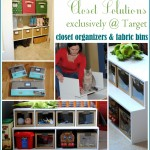 Need inexpensive closet storage solution?  Check out the new organizer line by ClosetMaid exclusively at Target