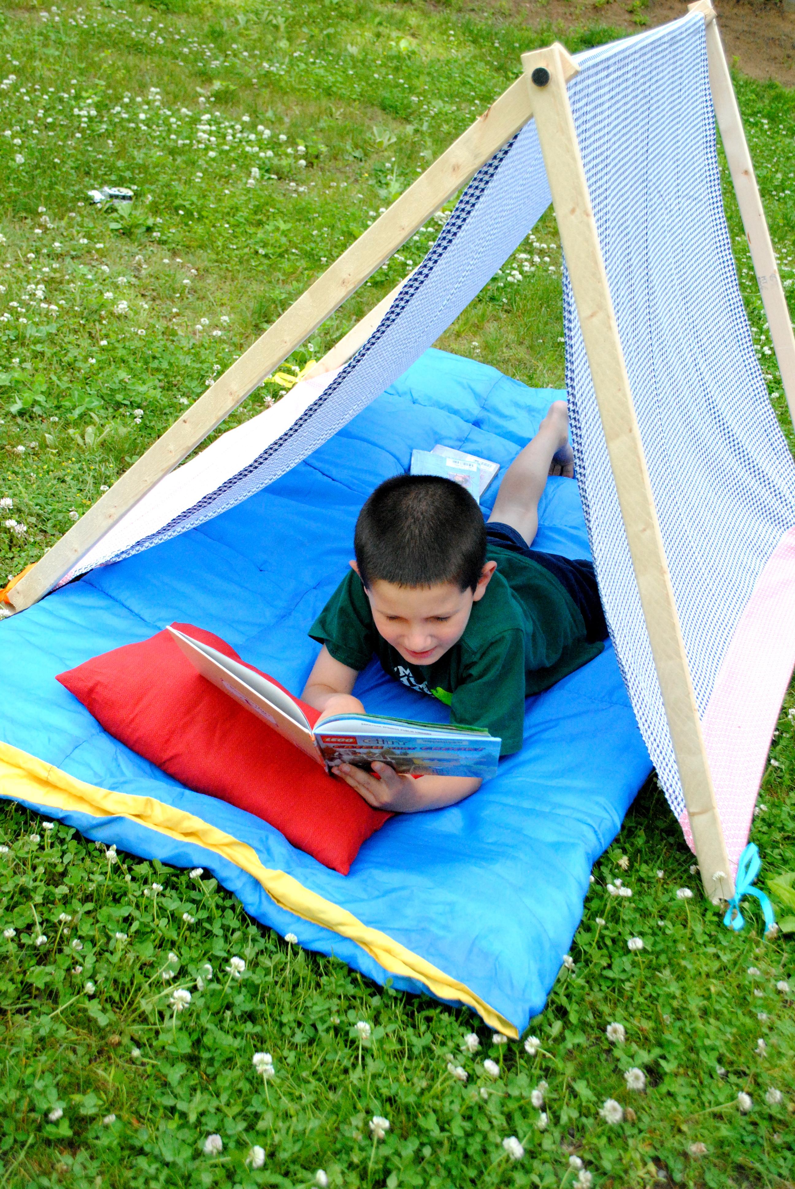 DIY: Kids Play + Camping Tent - Jenna Burger Design LLC