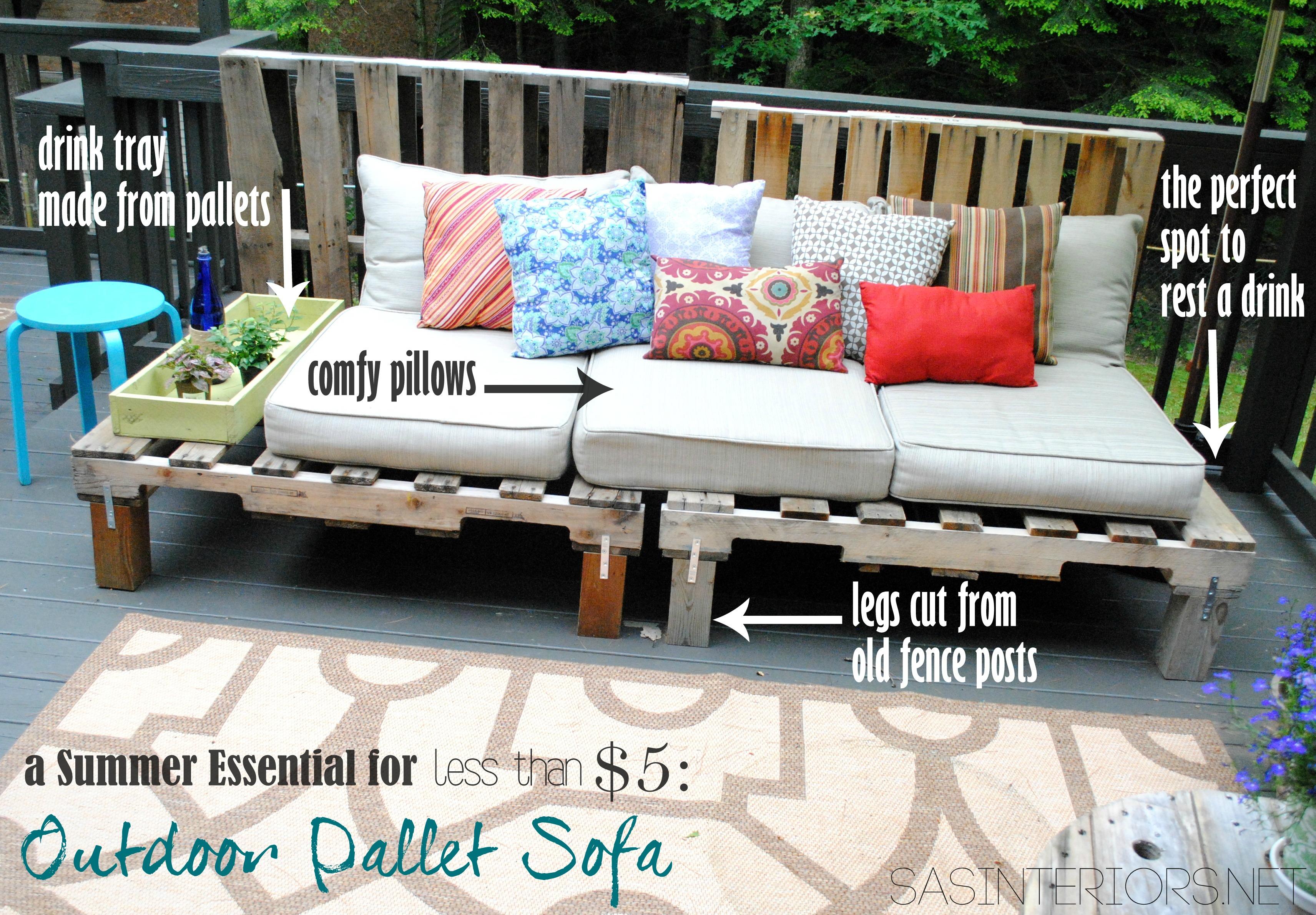 DIY: Outdoor Pallet Sofa - Jenna Burger Design LLC