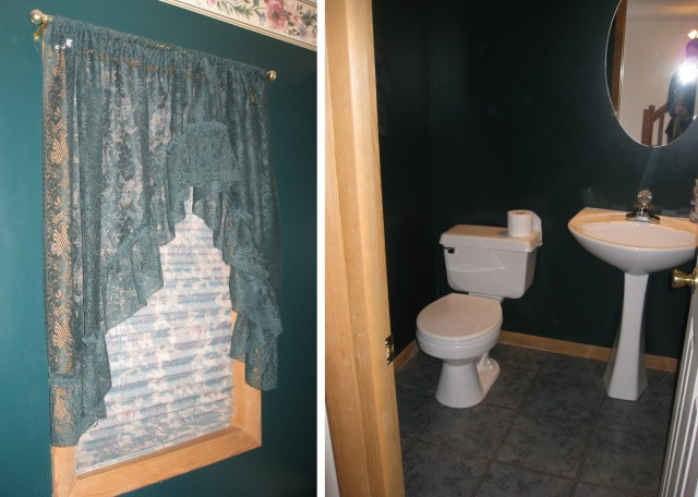 Before Powder Room Remodel