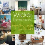 Wicker furniture & decor for the indoors.  Inspiration + ideas at www.sasinteriors.net
