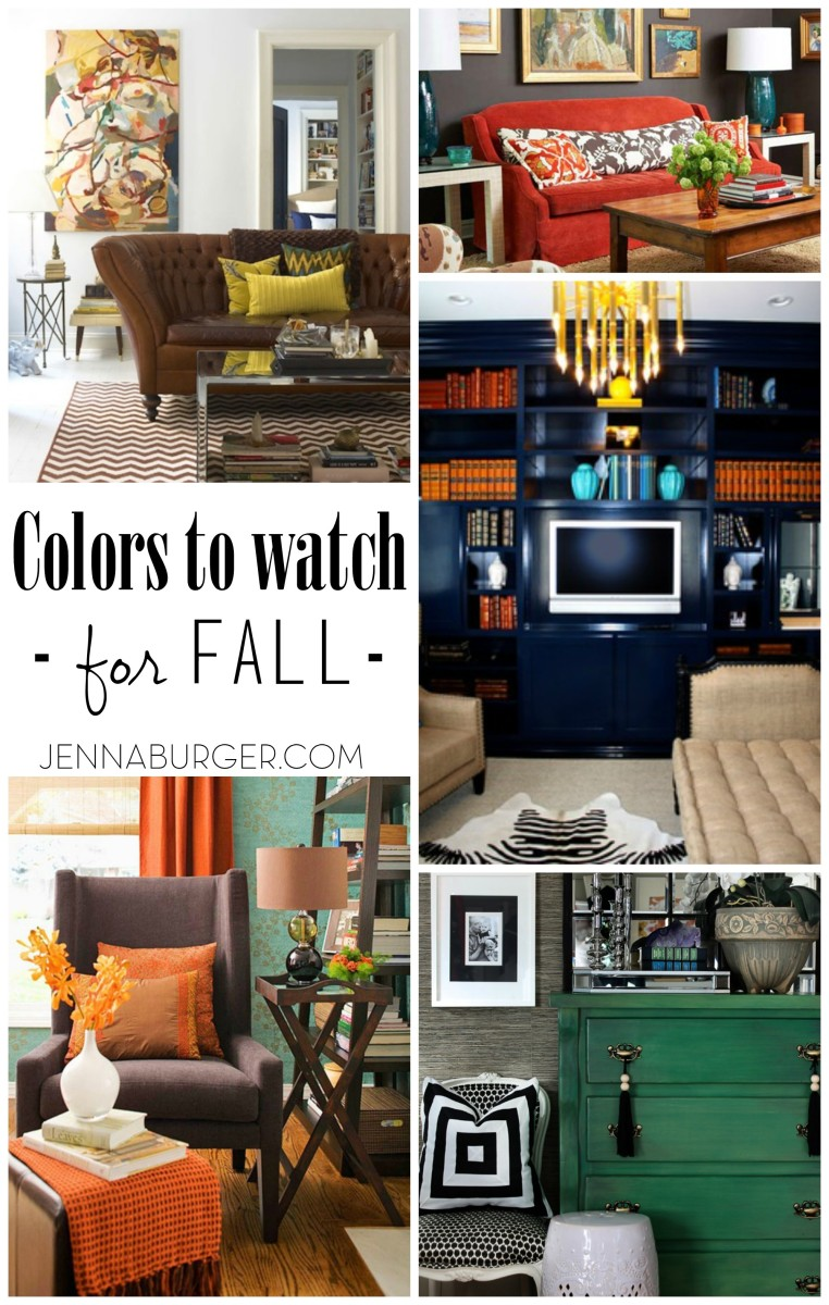 The perfect Fall colors to use in your home decor!