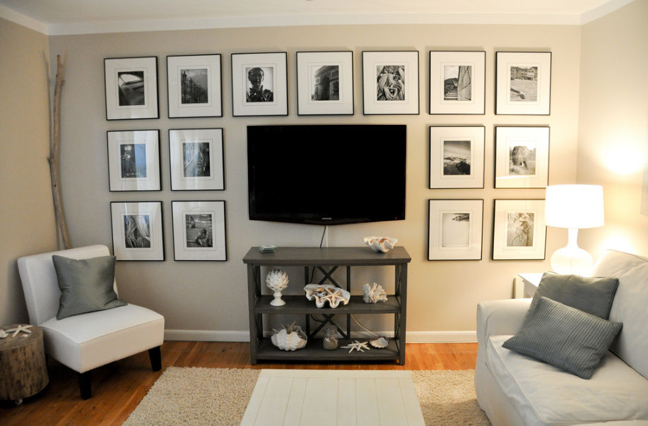 Ideas Solutions For The Wall Behind The Tv Jenna Burger Design Llc