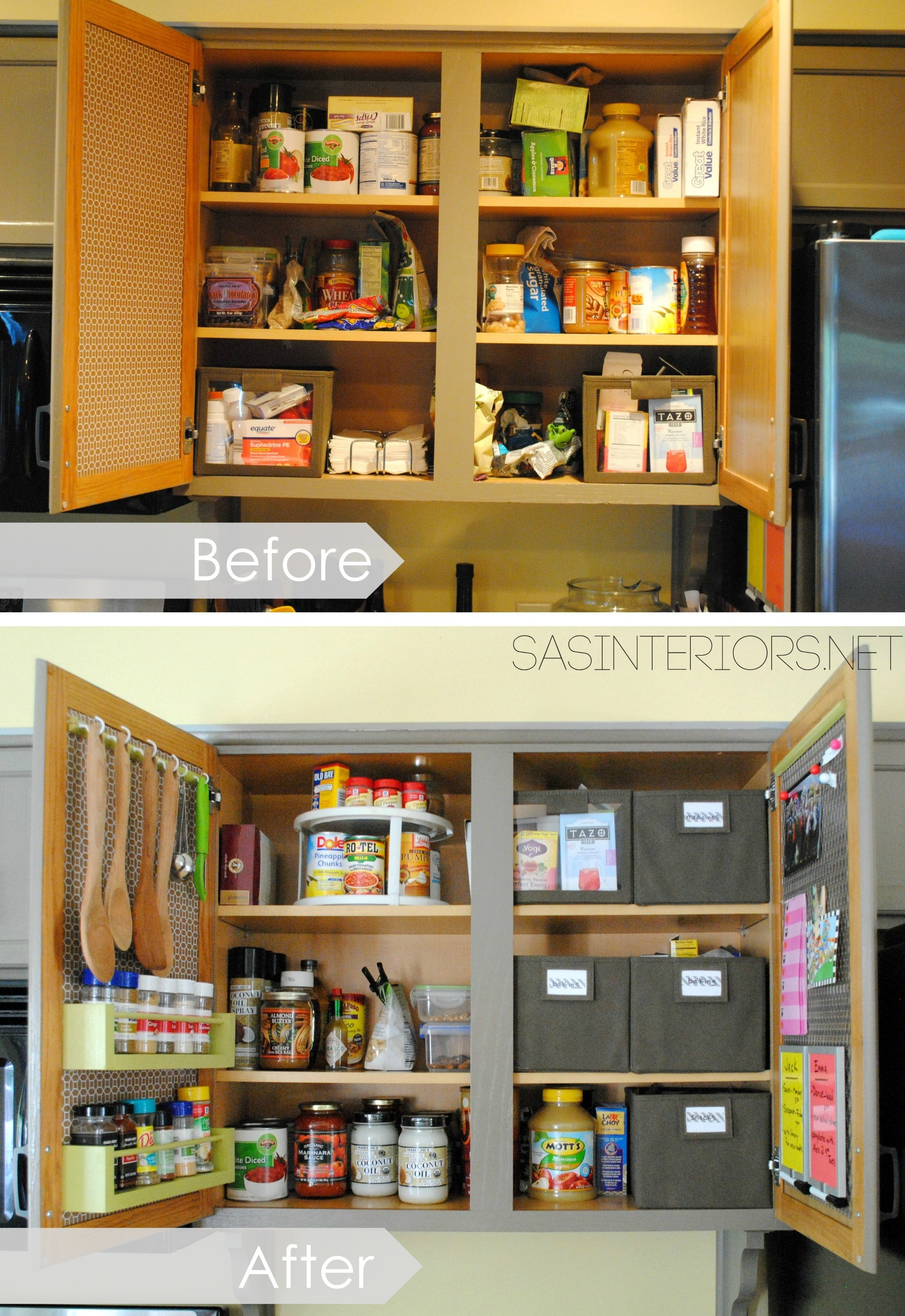 kitchen organization: ideas for the inside of the cabinet