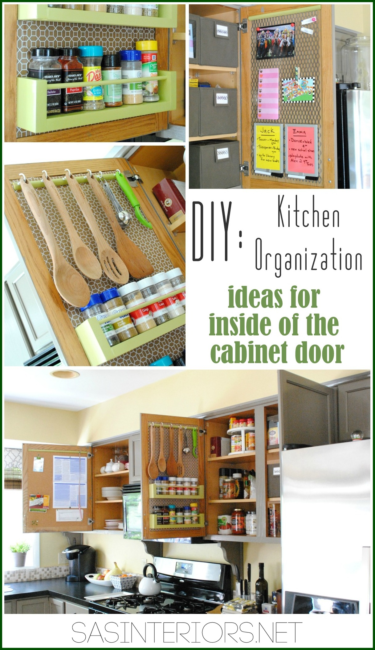 Kitchen Organization Ideas For The Inside Of The Cabinet Doors Jenna Burger Design Llc