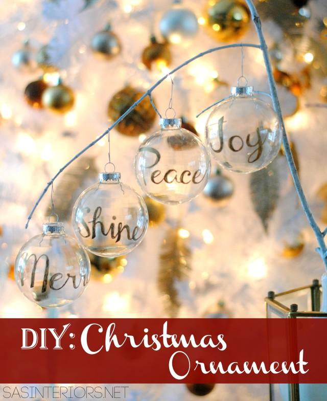 DIY: Word Christmas Ornament using a Gold Sharpie by @Jenna_Burger, WWW.JENNABURGER.COM