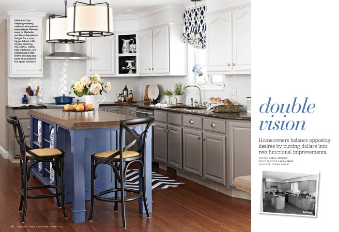 Kitchen Makeover featured in KBMO Spring 2014, designed by Jenna Burger - produced by Donna Talley - photographed by Laura Moss