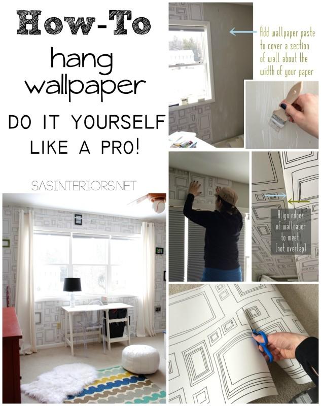 How-To Hang Wallpaper Like a Pro! - Jenna Burger Design LLC