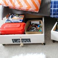 DIY: Rolling Underbed Wood Storage Cart