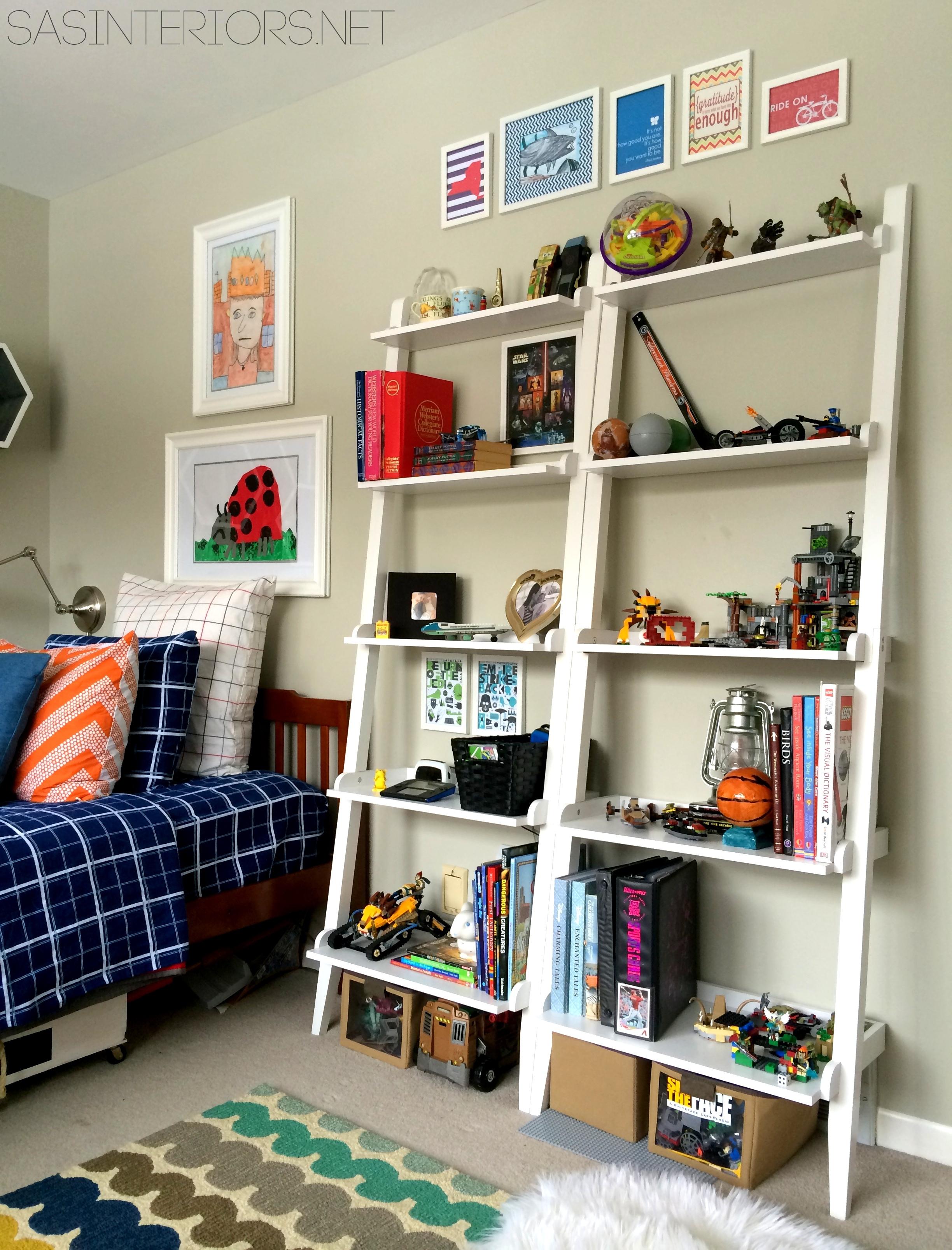 Decorating With Leaning Ladder Shelves Jenna Burger Design Llc