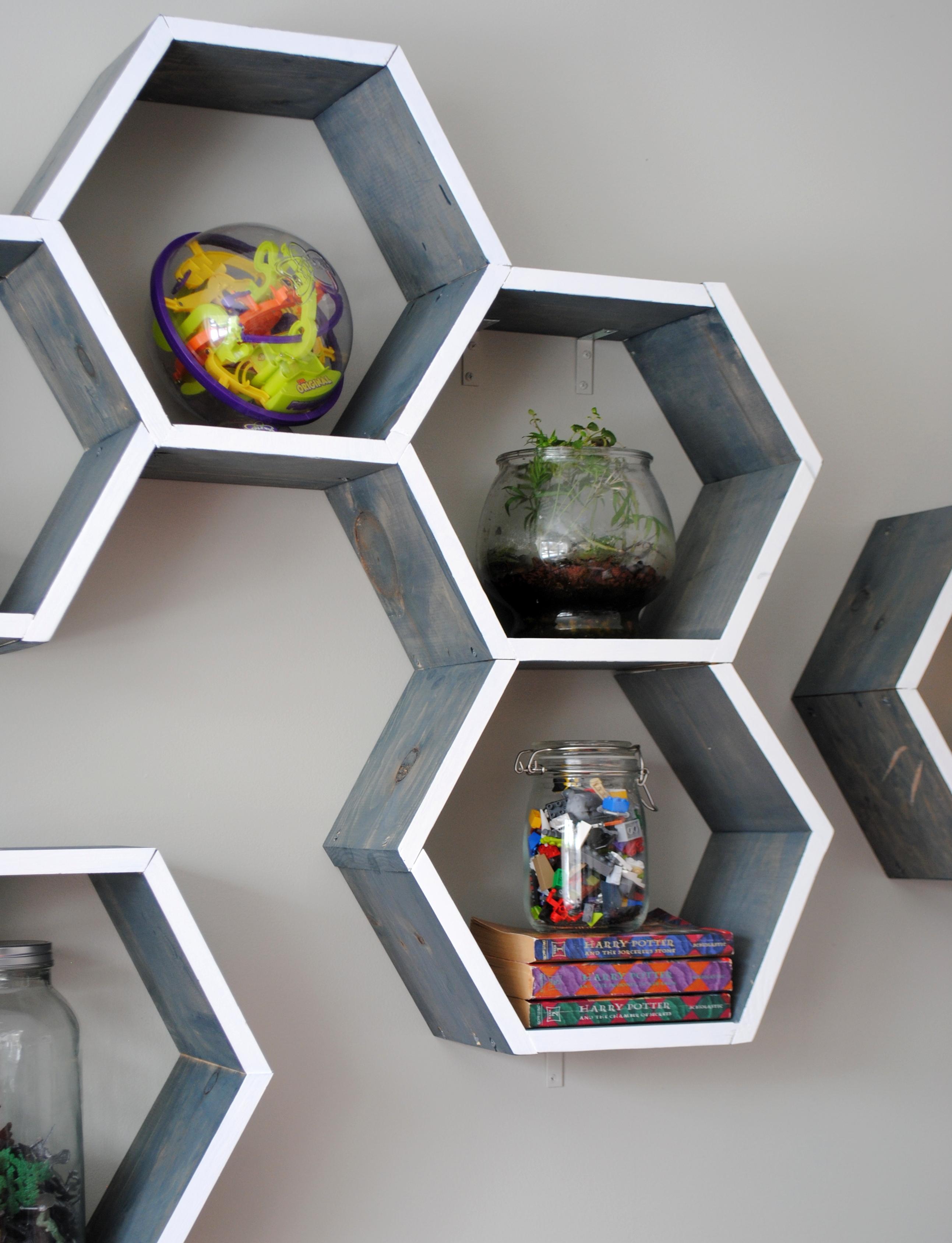 Diy Wood Honeycomb Shelves Jenna