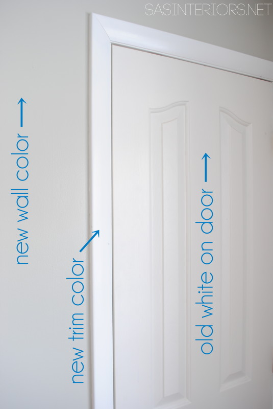Steps to take for Painting a Door - Add a Pop of COLOR by painting the door. Ditch the typical white (interior or exterior) door and add a splash of color. Check out this great how-to with 5 easy steps to transform a door!