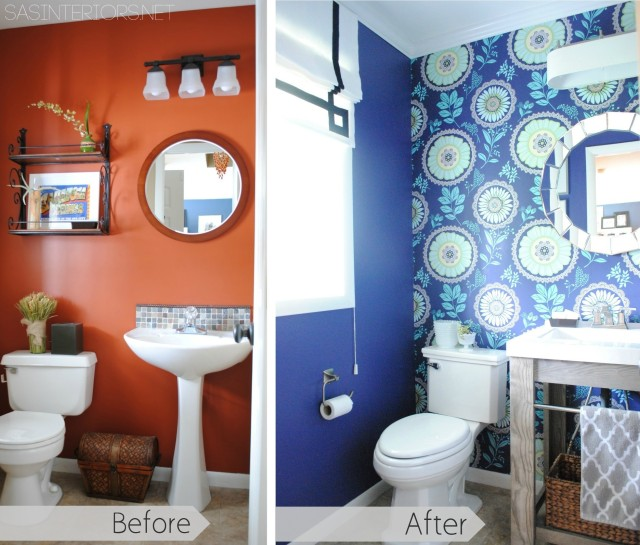 """Unique + Functional lighting in a bathroom can """"make"""" a space!"""