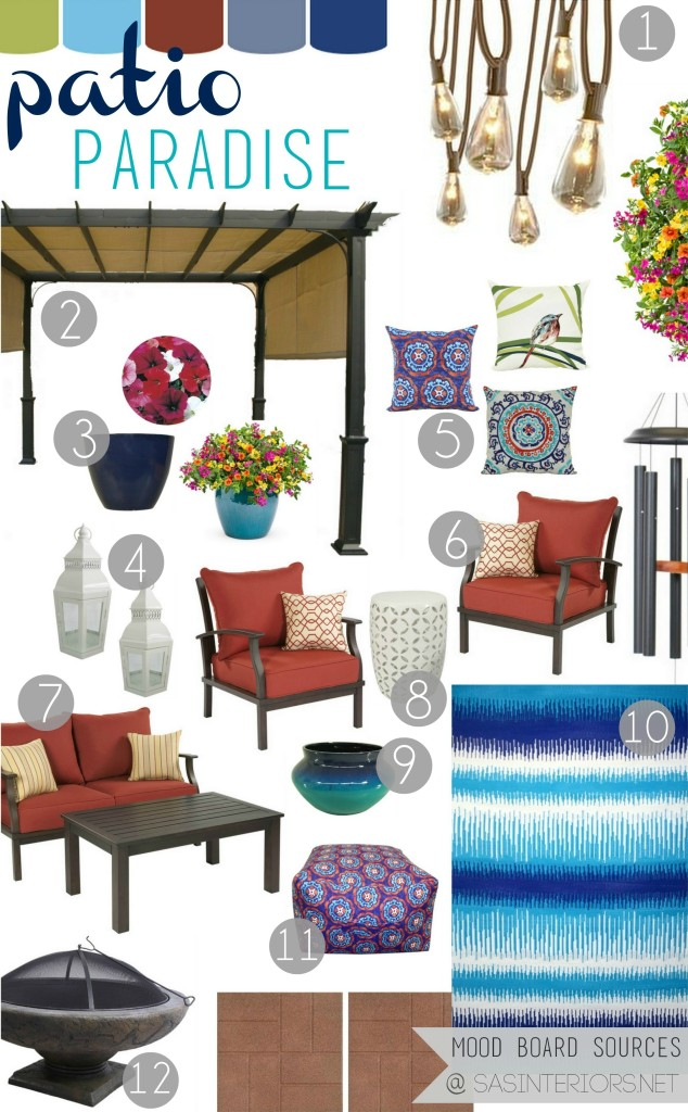 Patio Paradise Mood Board: Creating an inviting, relaxing patio oasis