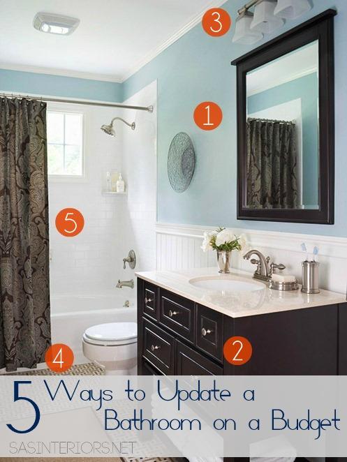 5 Ways To Update A Bathroom On A Budget Jenna Burger Design Llc
