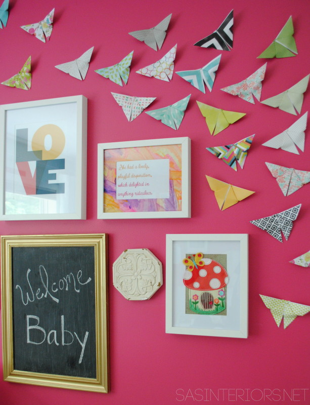 Nursery Nook: Gallery Wall - New creative wall with a combination of pictures, artwork, quotes, and special keepsakes. Come see the evolution of the 'nook'