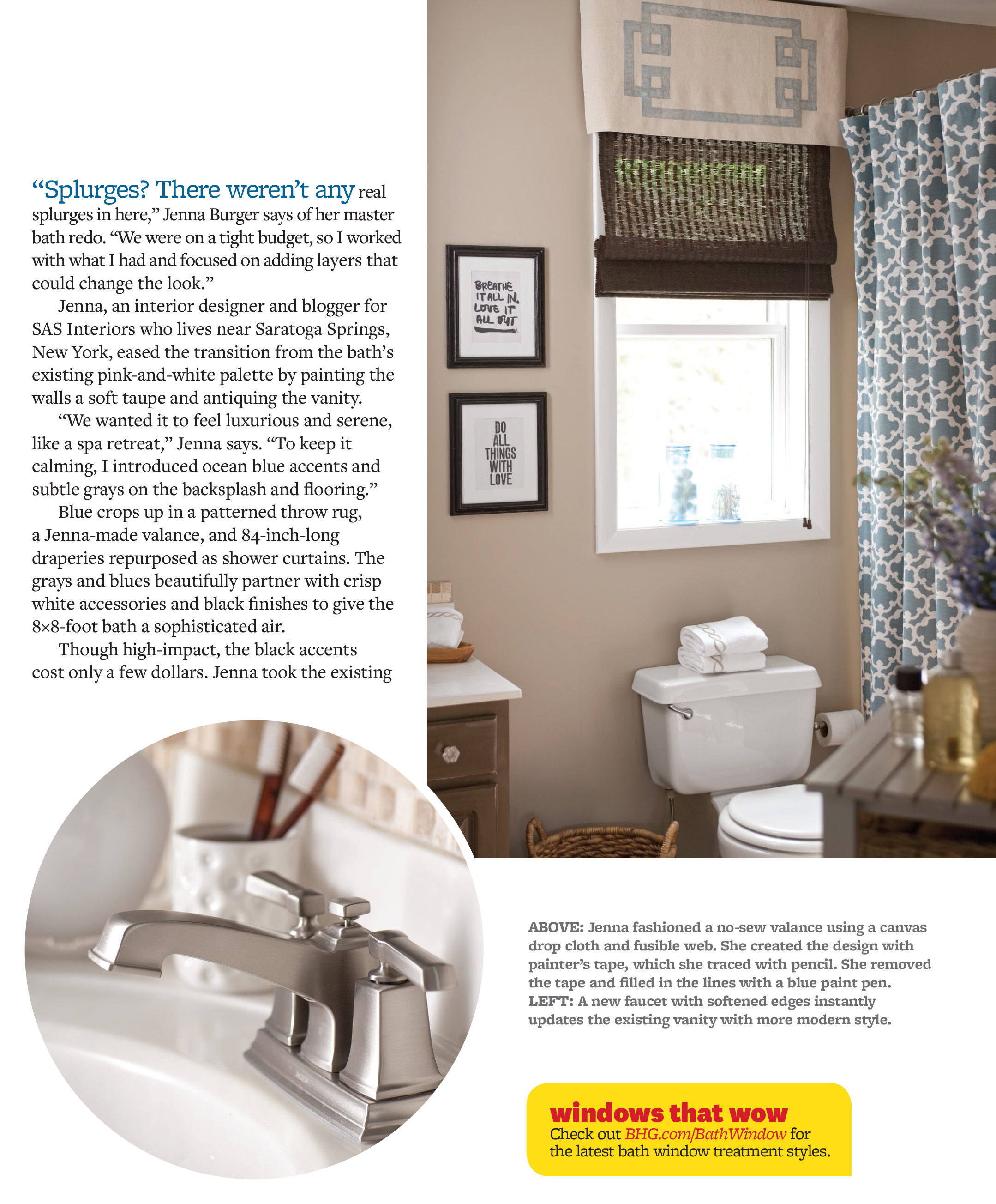 Bathroom Makeover Magazine triple feature in kitchen + bath makeovers magazine - jenna burger