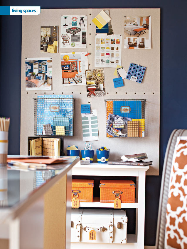 Living Room / Office featured in Storage Magazine Fall 2014 issue, Designed by Jenna Burger - Produced by Donna Talley - Photographed by John Bessler