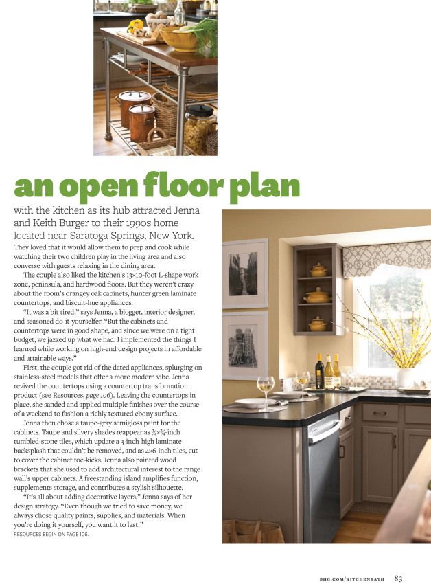 Kitchen Makeover featured in KBMO Fall/Winter 2014, produced by Donna Talley & photographed by John Bessler