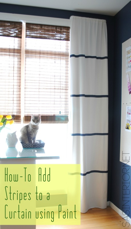 9 Ideas for DIY window treaments. Use paint to get the look for less!