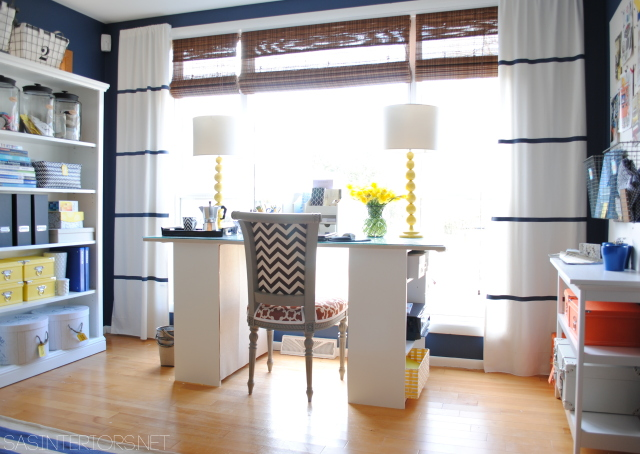 9 Ideas for DIY window treaments. Use paint to create the look for less!