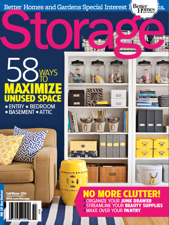 Storage Magazine Fall/Winter 2014: cover feature with my living room / office. Great story on organization and how I've created a multi-purpose space.