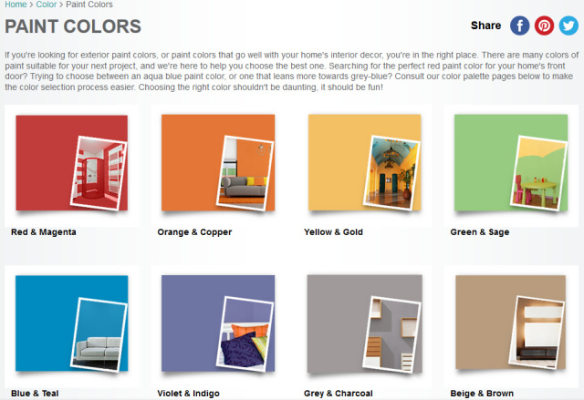 Glidden's simplified palette - Choosing color made easy