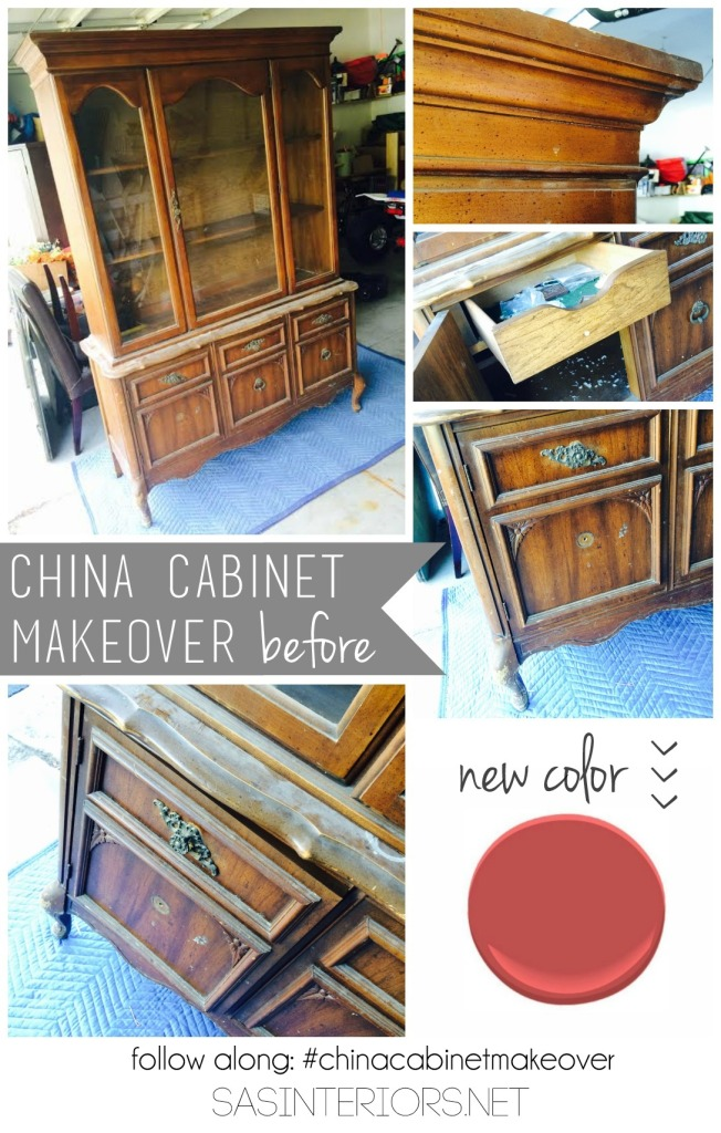 Craigslist China Cabinet - Before the makeover: The backstory + the choosing of a color