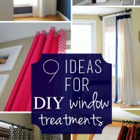 9 DIY Window Treatments Ideas