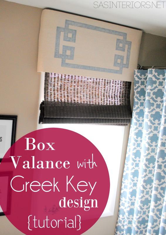 Box Pleat Valance with Greek Key Design {Tutorial}