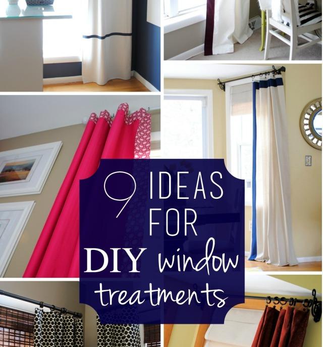 9 Ideas for DIY window treatments