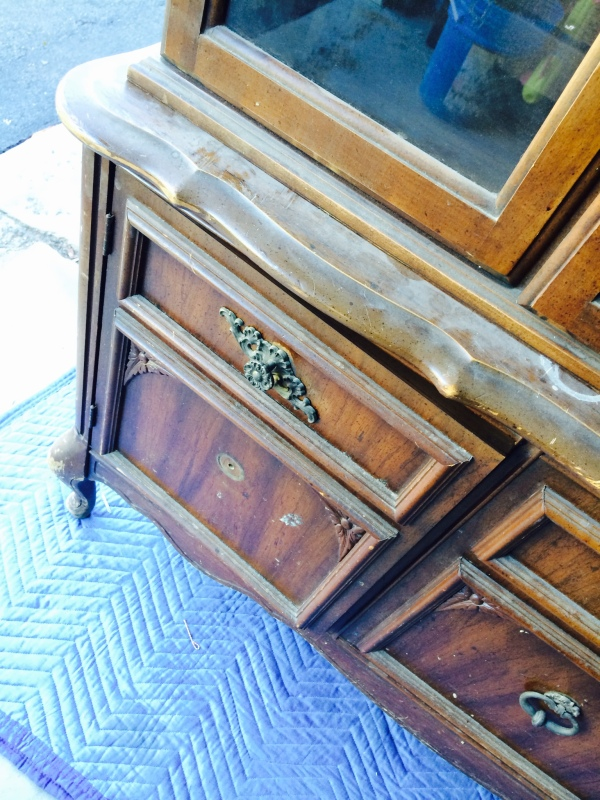 Craigslist China Cabinet - Before the makeover