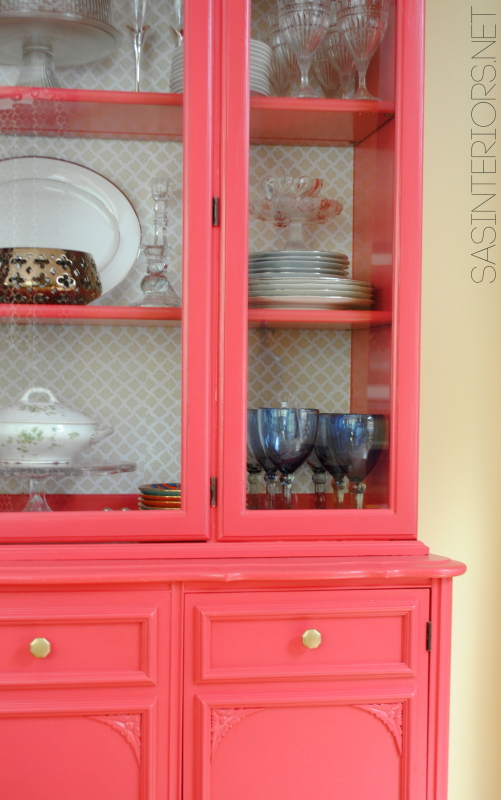 Styling Tips: Adding unique, one-of-a-kind details to the finish the china cabinet makeover!