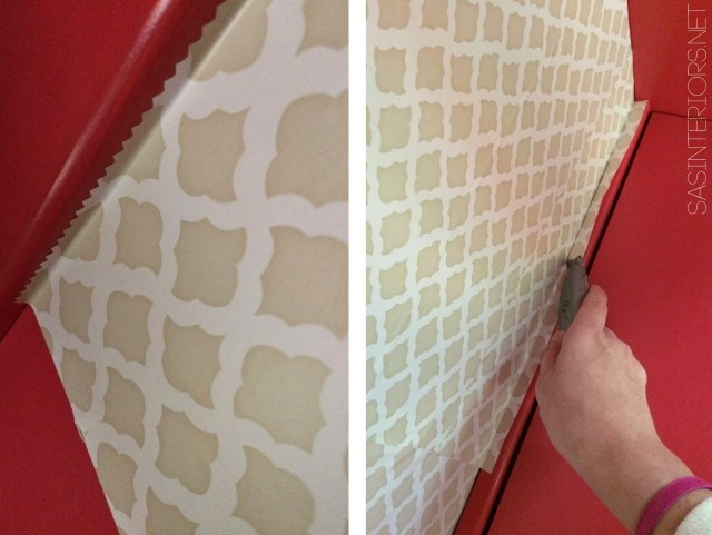 Adding unique, one-of-a-kind details to the finish the china cabinet makeover!