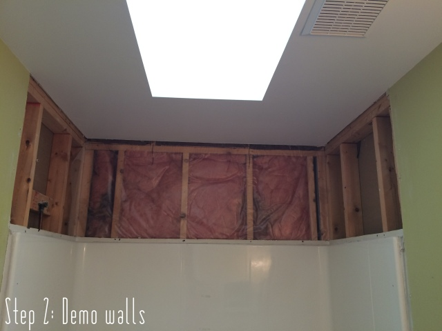 Bathroom Makover: Demoing the exisiting