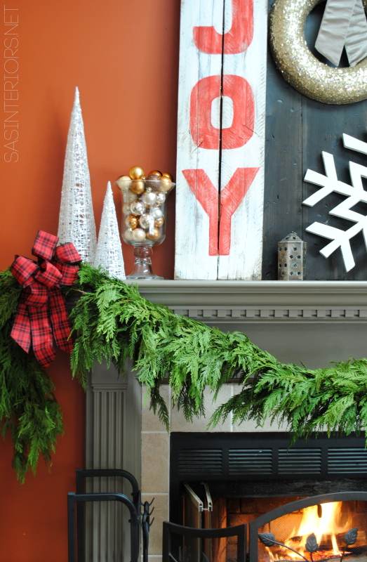 Christmas mantel filled with old & new and lots of DIY creations!