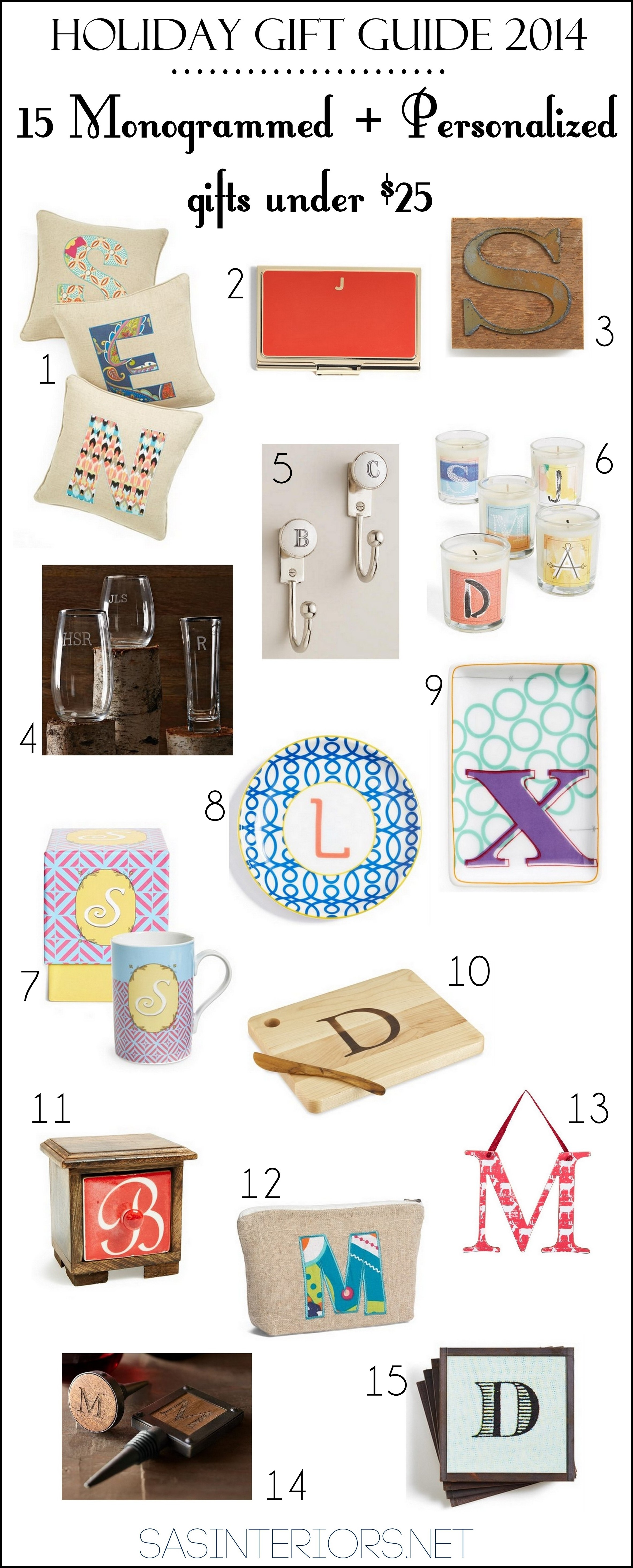 Holiday Gift Guide 2014 15 Monogrammed Personalized