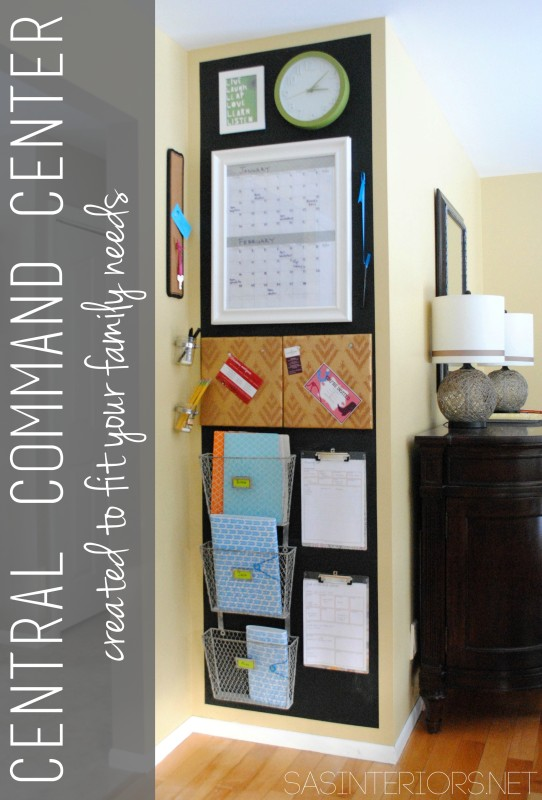 "Central Command Center revamp (again) - creating a central ""spot"" that works for your family!"