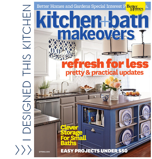 A kitchen I designed on the cover of KBMO