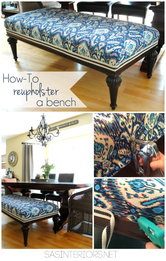 Reupholstering a bench