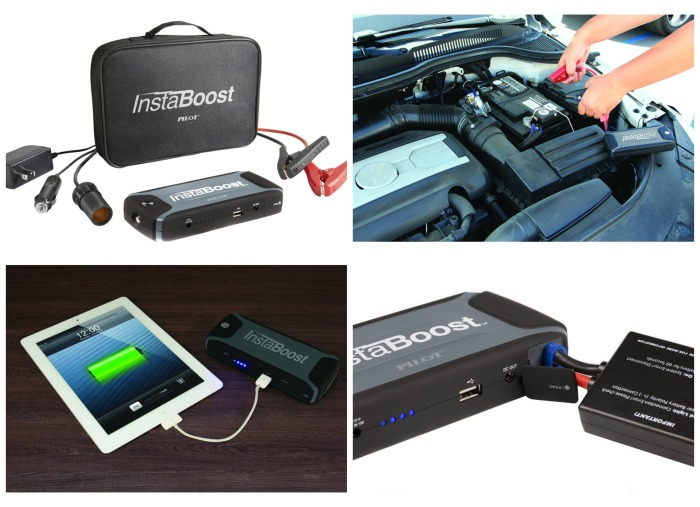 Instaboost: A handy device to jump start your car + charge your phone & tablet.