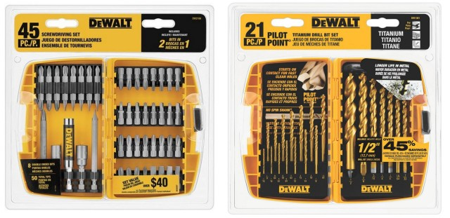 Screwdriving set and a Drill Bit Set