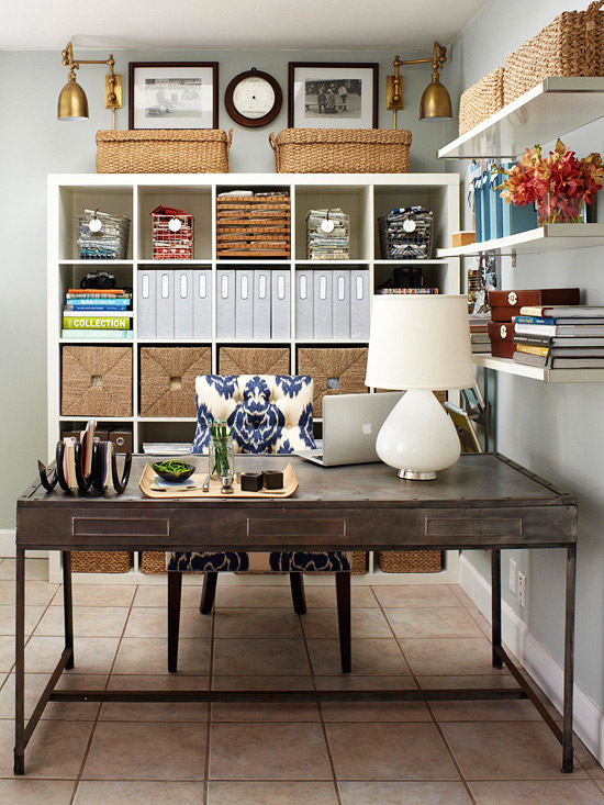 Organzing ideas + tips for the HOME OFFICE!